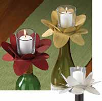 Flower Votive Bottle Topper
