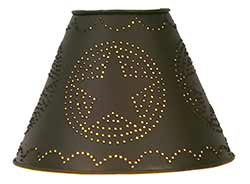 Star Punched Tin Lamp Shade - 9 inch