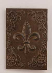 Fleur De lis Cast Iron Plaque