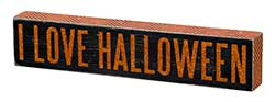 Primitives By Kathy I Love Halloween Box Sign