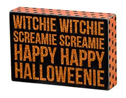 Witchie Witchie Box Sign