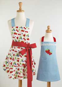 Berry Sweet Ruffled Apron
