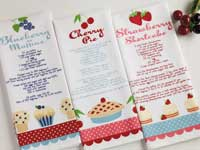 Cherry Pie Printed Dishtowel