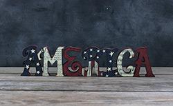 CWI America Word Shelf Sitter