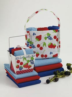 Berry Sweet Takeout Dishcloth Set