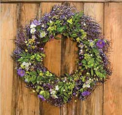Purple Floral & Berry Wreath