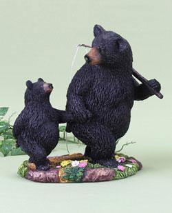 Fishing Bears Figurine