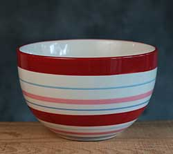 Berry Sweet Striped Bowl Bowl