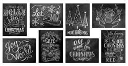 Chalk Christmas Notecards (Set of 8)