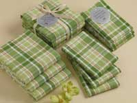 Garden Plaid Heavyweight Dishcloths (Set of 3)