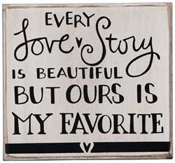 Every Love Story Box Sign