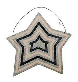 Striped Large Tin Star