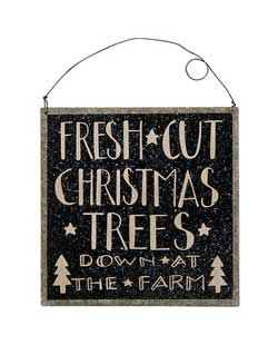 Christmas Trees Tin Sign