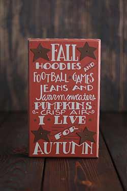 Fall Hoodies Box Sign