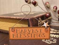 Harvest Blessings Mini Tin Ornament