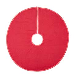 Red Burlap Tree Skirt – 36 inch