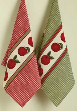 Apples Printed Dishtowel
