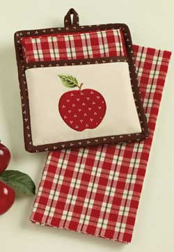 Apple Pot Holder with Kitchen Towel