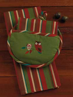 Give a Hoot Potholder & Dishtowel Gift Set