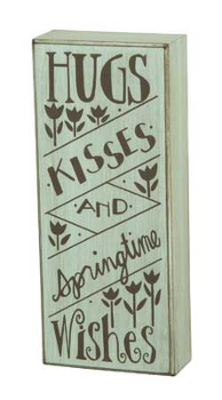 Springtime Wishes Box Sign