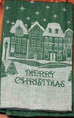 Merry Christmas Jacquard Dishtowel