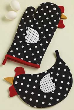Dotty Hen Pot Holder