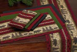Bear Country Jacquard Tablerunner
