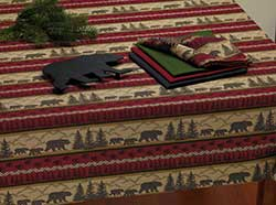 Bear Country Jacquard Tablecloth - 52 x 52 inch