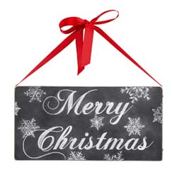 Merry Christmas Chalk Box Sign