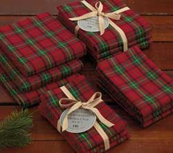 Christmas Plaid Heavyweight Dishcloths (Set of 3)