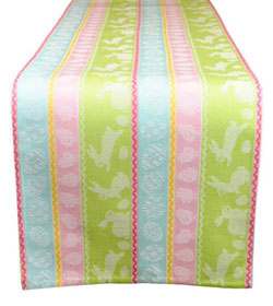 Spring Hop Jacquard Table Runner