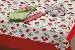 Cherry Toss Printed Tablecloth - 60 x 84