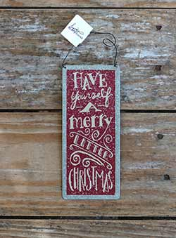 Merry Little Christmas Tin Sign