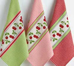 Cherry Print Dishtowel