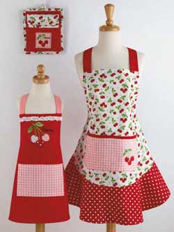 Cherries Pot Holder Dishtowel Set