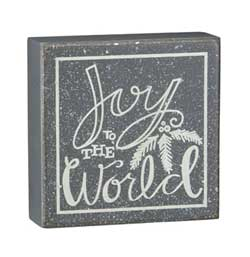 Joy to the World Box Sign