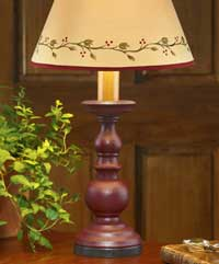 Candlestick Lamp - Red (13.5 inch)