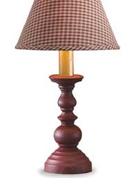 Candlestick Lamp - Red (8.5 inch)