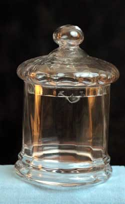 Covered Glass Jar, Small