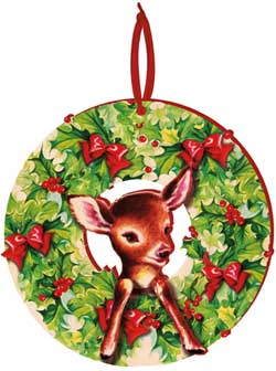 Deer Retro Wreath