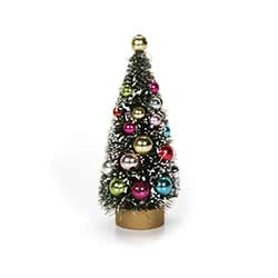 Beaded Bottlebrush Tree - 4.5 inch