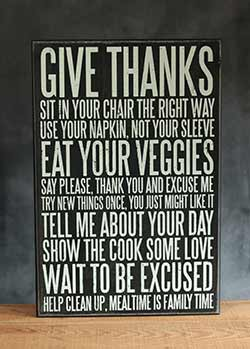 Good Manners Box Sign