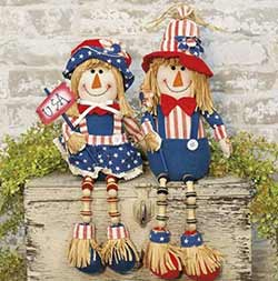 Patriotic Raggedy Dolls (Set of 2)