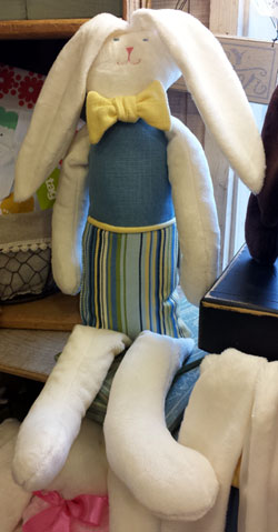 Xlg Boy Bunny - Blue Stripe