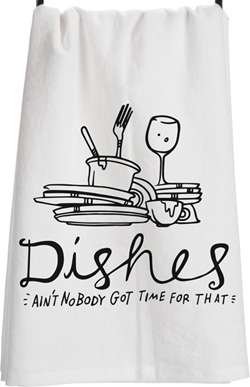 Dishes Tea Towel
