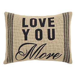 Love You More Decorative Pillow