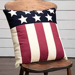 Modern American Flag Throw Pillow (18 inch)