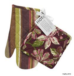 Plum flora Pot Holder OR Oven Mitt