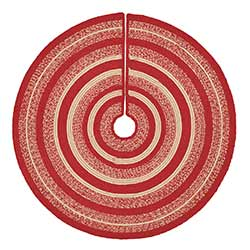 Cunningham Red Braided Tree Skirt