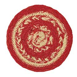 Cunningham Red Braided Coaster